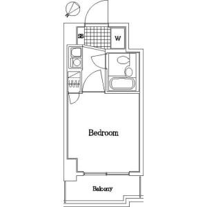 横浜市神奈川区新町-1K公寓大廈 房間格局