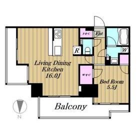 1LDK Mansion in Ichibancho - Chiyoda-ku Floorplan
