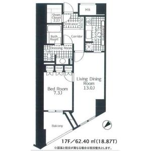 港區南青山-1LDK公寓大廈 房間格局