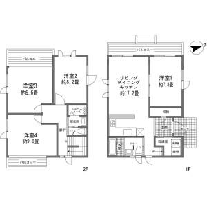虻田郡倶知安町 樺山 4LDK {building type} 間取り