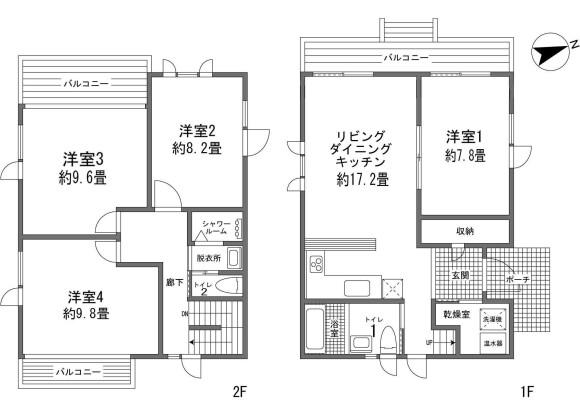 4LDK House to Buy in Abuta-gun Kutchan-cho Floorplan