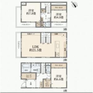 3LDK {building type} in Hatanodai - Shinagawa-ku Floorplan