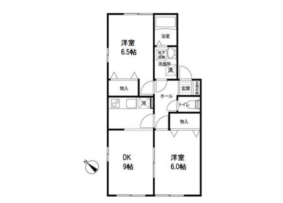 2DK Apartment to Rent in Koshigaya-shi Floorplan