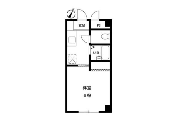 1K Apartment to Rent in Tama-shi Floorplan