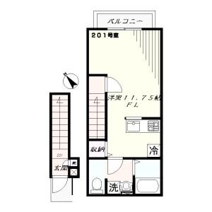 1R Apartment in Shioiricho - Yokosuka-shi Floorplan