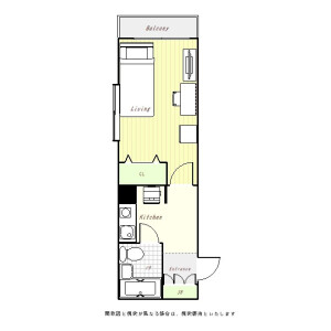 1K Mansion in Hashimoto - Sagamihara-shi Midori-ku Floorplan