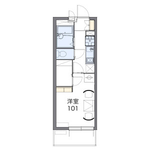 1K Mansion in Kurokawahontori - Nagoya-shi Kita-ku Floorplan