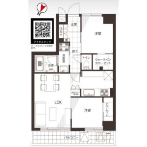 2LDK {building type} in Shimomeguro - Meguro-ku Floorplan