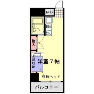 1R Mansion in Wakamiya - Okegawa-shi Floorplan