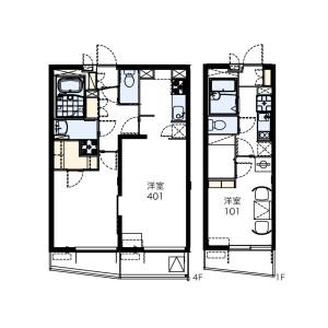 1K Mansion in Asahicho - Nerima-ku Floorplan