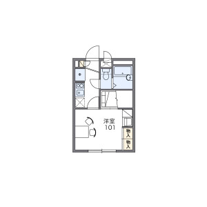 1K Apartment in Momijigaoka - Fuchu-shi Floorplan