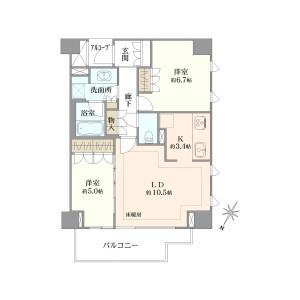 2LDK {building type} in Momijigaoka - Yokohama-shi Nishi-ku Floorplan
