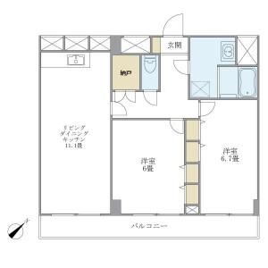 2LDK Mansion in Higashinakano - Nakano-ku Floorplan
