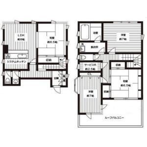 4SLDK Mansion in Kamiikebukuro - Toshima-ku Floorplan