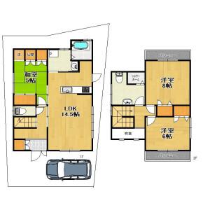 3LDK {building type} in Fukakusa nodecho - Kyoto-shi Fushimi-ku Floorplan