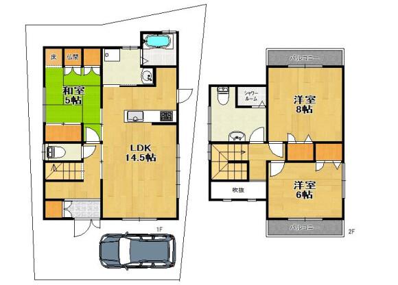 3LDK House to Buy in Kyoto-shi Fushimi-ku Floorplan