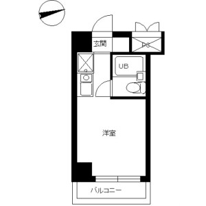 1R Mansion in Asahigaoka - Hino-shi Floorplan
