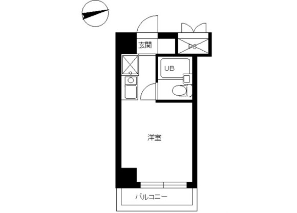 1R Apartment to Rent in Hino-shi Floorplan
