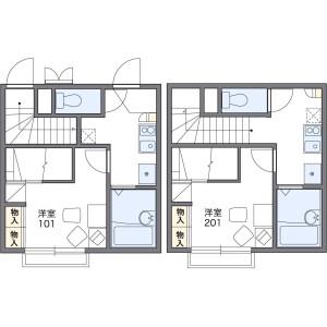 名古屋市中村區岩塚本通-1K公寓 房間格局