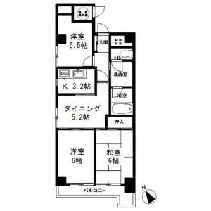 3DK Mansion in Azabujuban - Minato-ku Floorplan