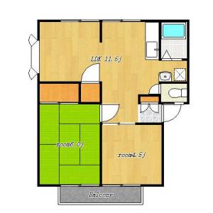 2LDK Mansion in Shinkamata - Ota-ku Floorplan