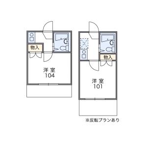 品川區小山-1K公寓 房間格局