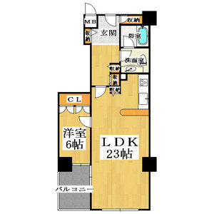 1LDK Mansion in Jusohigashi - Osaka-shi Yodogawa-ku Floorplan