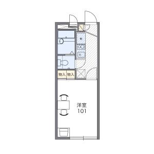 1K Apartment in Okino - Adachi-ku Floorplan