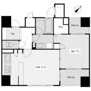 1LDK Apartment in Chiyoda - Nagoya-shi Naka-ku Floorplan