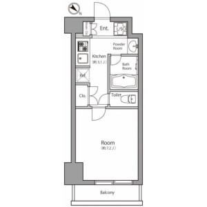 1K Mansion in Suido - Bunkyo-ku Floorplan