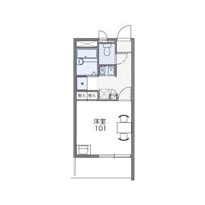 1K Mansion in Otorinishimachi - Sakai-shi Nishi-ku Floorplan