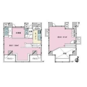 2LDK {building type} in Kitaaoyama - Minato-ku Floorplan