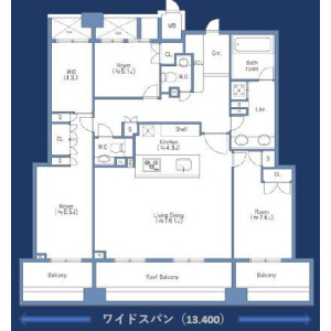 3LDK Apartment in Ebisu - Shibuya-ku Floorplan