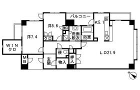 2SLDK Apartment in Imagawa - Fukuoka-shi Chuo-ku