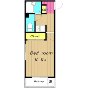 1K Mansion in Wakagi - Itabashi-ku Floorplan
