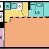 1R Apartment to Rent in Kunitachi-shi Floorplan