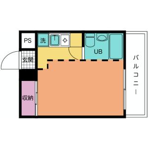 1R Mansion in Yaho - Kunitachi-shi Floorplan