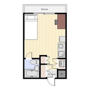 1R Mansion in Kamimaruko hachimancho - Kawasaki-shi Nakahara-ku Floorplan
