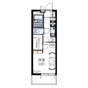 福岡市城南区茶山-1K公寓大厦 楼层布局