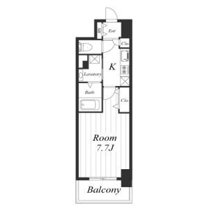 1K Mansion in Dojima - Osaka-shi Kita-ku Floorplan