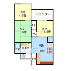 3DK Mansion in Okubo - Shinjuku-ku Floorplan