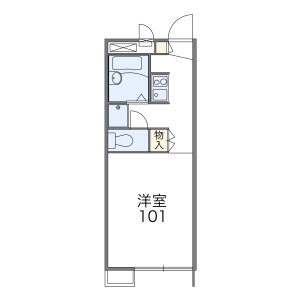 1K Apartment in Kokuryocho - Chofu-shi Floorplan