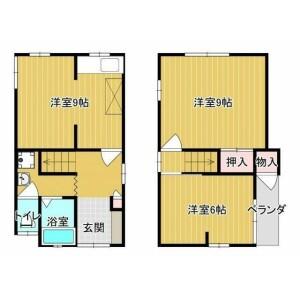 2DK House in Nishiyamamotocho - Yao-shi Floorplan