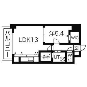 名古屋市中区 丸の内 1LDK マンション 間取り