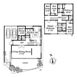 5SLDK House in Seta - Setagaya-ku Floorplan