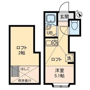 1R Apartment in Higashinakano - Nakano-ku Floorplan