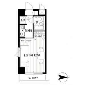 1K Mansion in Shiratori - Katsushika-ku Floorplan