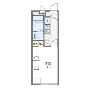 1K Apartment in Niijuku - Katsushika-ku Floorplan