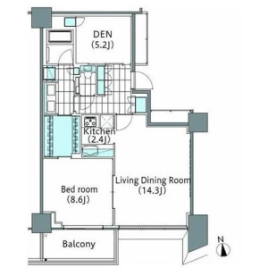 1SLDK Mansion in Shinjuku - Shinjuku-ku Floorplan