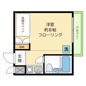 1R Mansion in Kitazawa - Setagaya-ku Floorplan